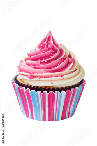 Photo  Raspberry ripple cupcake