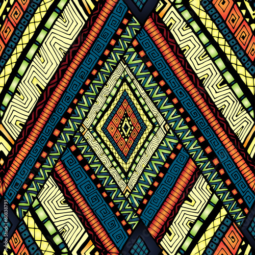 Принти на полотні Seamless pattern with geometric elements.