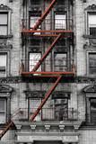 Schody pożarowe na ścianie domu, Nowy Jork - 60841150