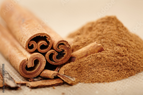 Fotografie, Obraz  Cinnamon rolls and powder