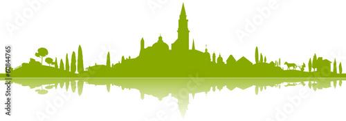 Foto op Plexiglas Groene Panorama Südeuropa