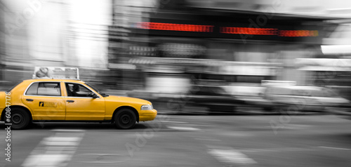 Canvas New York Taxi Cab