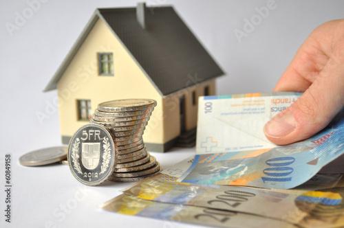 Hypothek bezahlen Tableau sur Toile