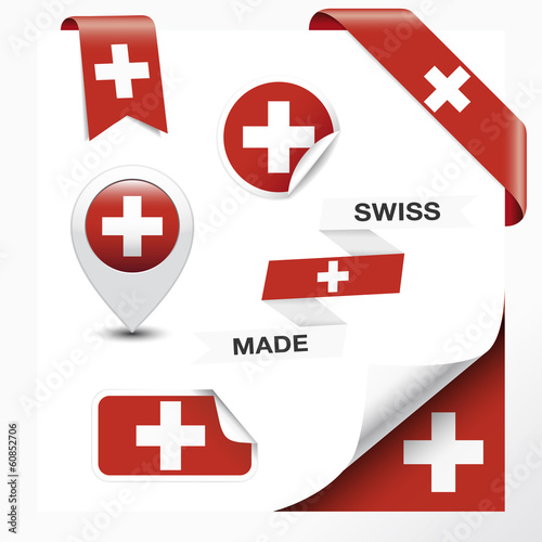 Swiss Made Symbol Collection Wall mural