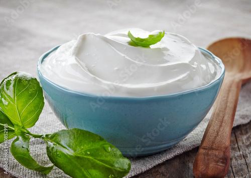 Fotografie, Obraz  bowl of sour cream