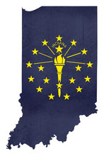 Grunge State Of Illinois Flag ...