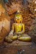 Old Buddha in ancient monastery, Myanmar