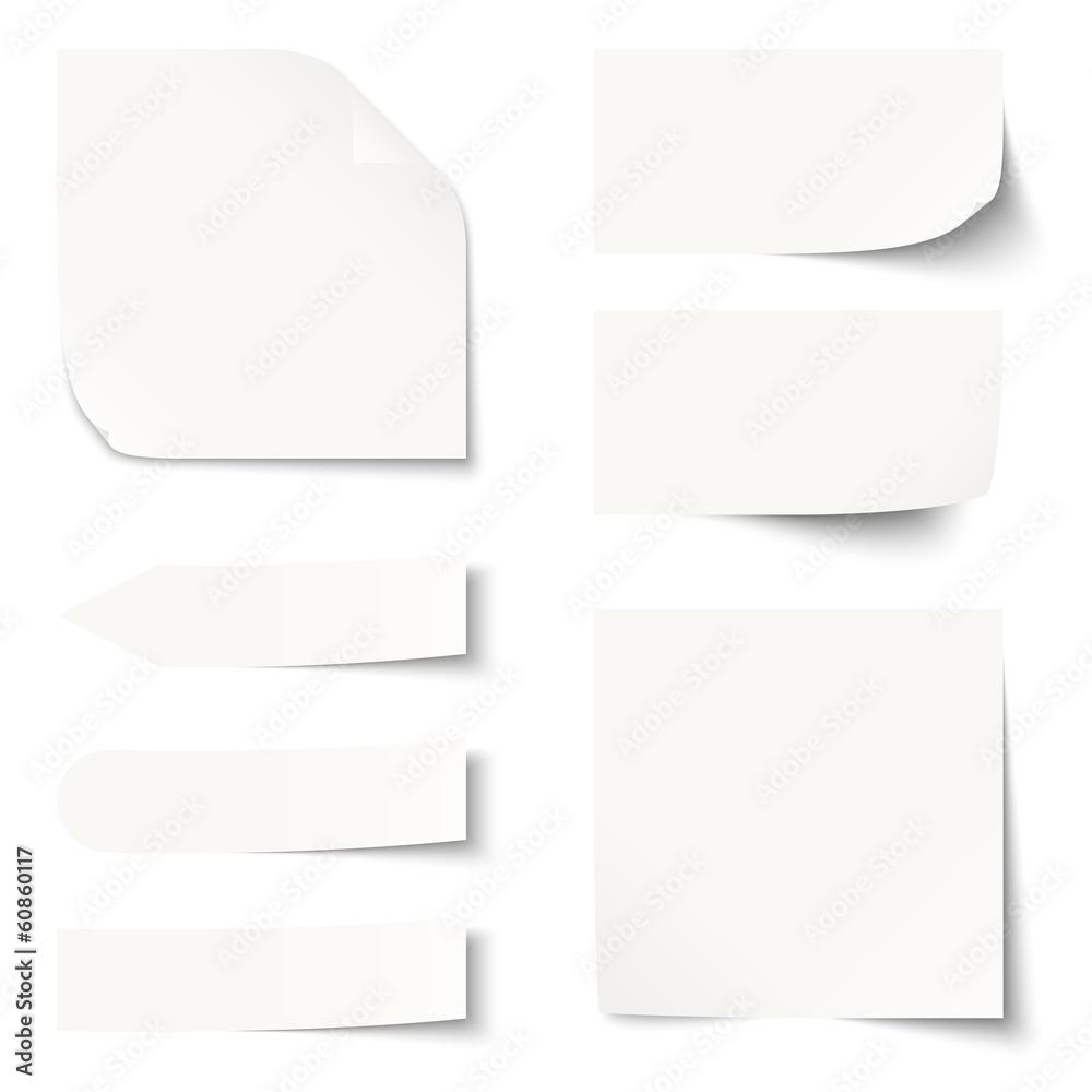 Fototapeta Sammlung - Zettel / Notiz blank
