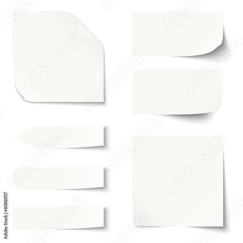 Fototapeta Sammlung - Zettel / Notiz blank obraz