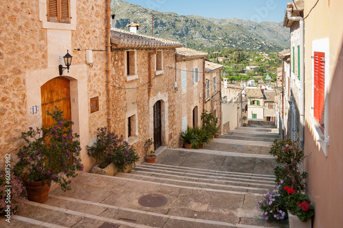Alley with stairs at Pollenca, Mallorca, Spain - 60875982