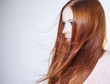 canvas print picture - Beautiful woman with red hair