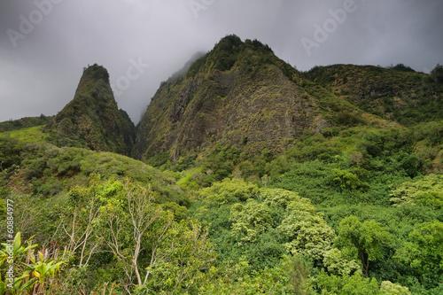 Foto auf Gartenposter Gebirge Horizontal view of the Iao Needle