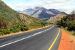 canvas print picture - Road to Worcester Mountains