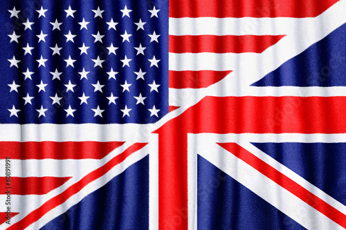 USA and UK flag Wallpaper Mural