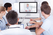 Doctors Watching Online Presentation