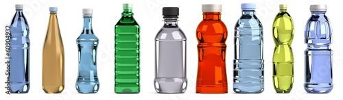 Fotografia realistic 3d render of bottles set