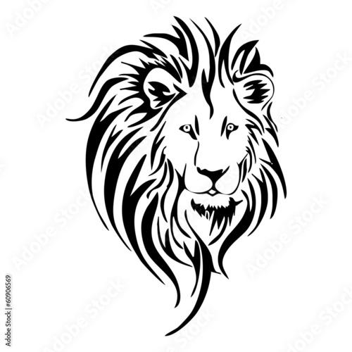 Fototapety, obrazy: lion head tattoo vector