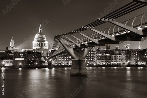 Millennium Bridge and St Pauls #60910338