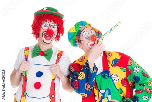 Photo  lachende clowns