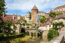 Beautiful Town Of Semur-en-Auxois, Burgundy, France