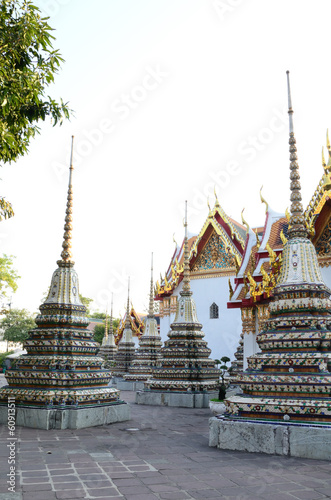 Authentic Thai Architecture in Wat Pho at Bangkok, Thailand Poster