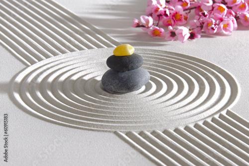 Keuken foto achterwand Stenen in het Zand Japanese ZEN garden with stone in sand