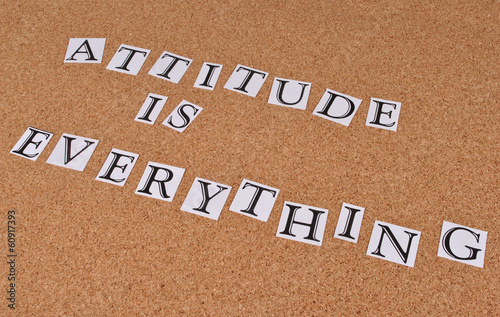 Attitude is everything Tablou Canvas