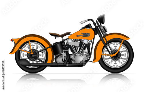 Foto orange motorcycle