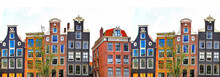 Amsterdam . Traditional Houses...