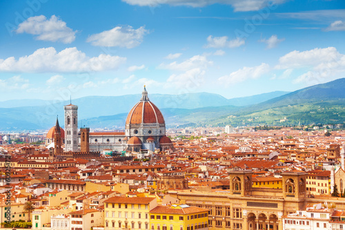 Photo sur Toile Florence Panorama of Florence and Saint Mary