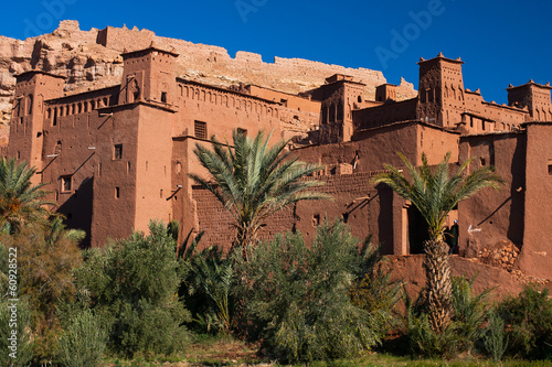 Papiers peints Maroc Big traditional kasbah in Ait Benhadou, Morocco