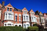 Fototapeta Londyn - Victorian terraced houses