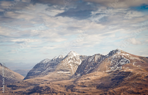 Canvas Prints Cappuccino Snowcapped Mountain, Scotland