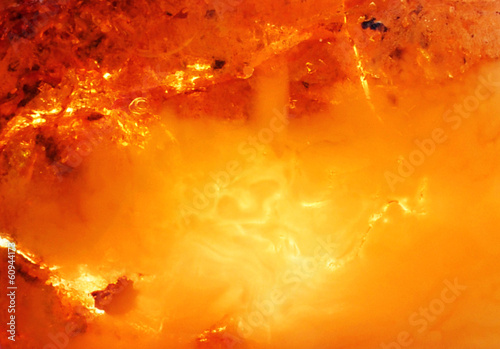 Beautiful natural Baltic amber in bright colors Fotobehang
