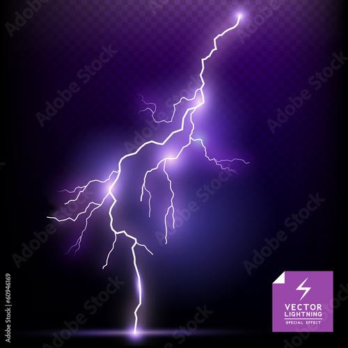Fotografie, Obraz  Vector Lightning special effect
