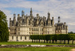 Chambord castle is located in Loir-et-Cher, France. It has a ver