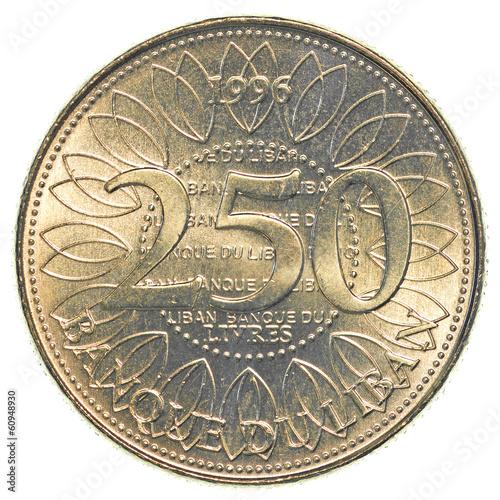 Poster  250 Lebanese pound coin