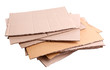 canvas print picture - Stack of cardboard for recycling isolated on white