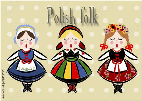 obraz PCV Tradycyjny polski Kostium - Vector.