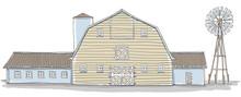 Barn And Wind Turbine