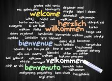 Tafel Thema Herzlich Willkommen Diverse Sprachen I