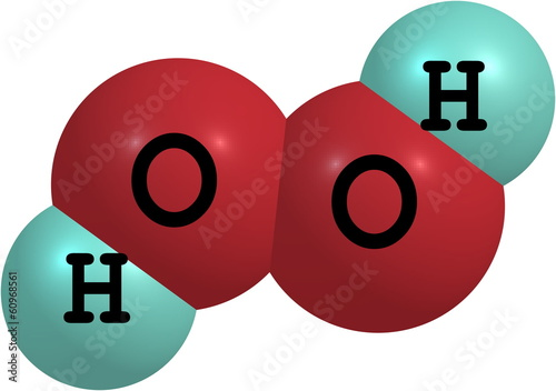 Hydrogen Peroxide H2o2 Molecular Structure Isolated On White Buy