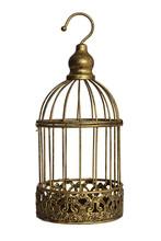 Vintage Birdcage Isolated On White Background