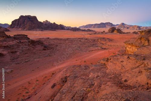Photo  Desert in a morning
