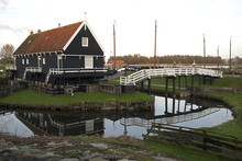 Old Fisherman Houses In The Outdoor Museum, Enkhuizen.