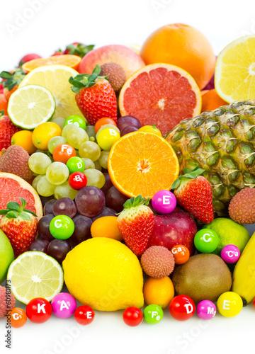 Foto op Aluminium Vruchten Fresh organic fruits