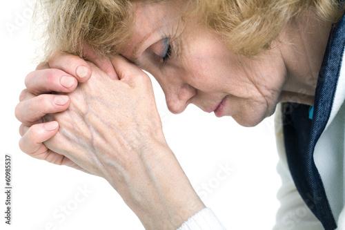 Fotografie, Obraz  praying senior woman