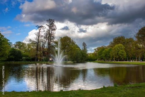 Pond  in Vondelpark, Amsterdam Canvas Print