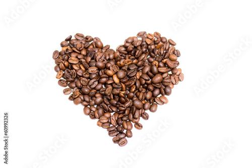Canvas Prints Coffee beans Coffee heart