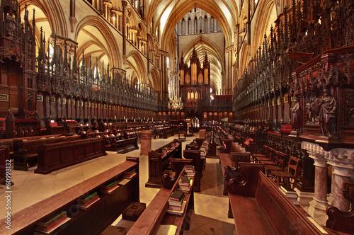 Fotografia  Quoir Stalls Lincoln Cathedral